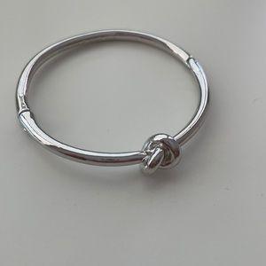 Kate Spade Silver sailor's knot hinge bangle